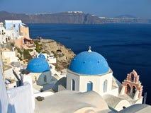Grecia Santorini panorámico Imágenes de archivo libres de regalías
