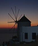 Grecia Santorini panorámico Imagenes de archivo
