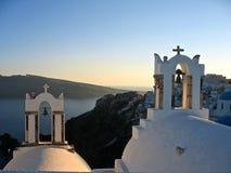 Grecia Santorini panorámico Foto de archivo libre de regalías