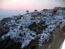 Grecia Santorini panorámico Fotos de archivo libres de regalías