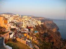 Grecia Santorini panorámico Fotografía de archivo