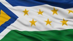 Grecia-Stadt-Flagge, Costa Rica, Nahaufnahme-Ansicht Lizenzfreie Abbildung