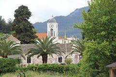 Grecia, Thassos, Limenas, vista de la iglesia Foto de archivo libre de regalías