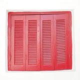 Grecia, ventana del rojo de la casa del vintage Foto de archivo libre de regalías