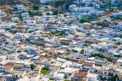 Grecia viaje julio de 2015, isla de Rhodos, Lindos Fotos de archivo