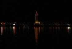 Grecia Zakynthos La capital de la isla en la noche Imagen de archivo