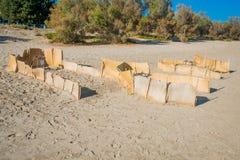 Grecia, Zakynthos, Zante - uno de la jerarquía famosa de la tortuga del Caretta encendido Fotografía de archivo libre de regalías