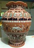Grecian ваза в кухне Стоковое Изображение RF