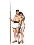 Grecian god and goddess Royalty Free Stock Photos