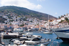 Grecian port of Hydra Greece Stock Image
