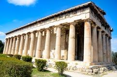 GRECJA ATENY, MARZEC, - 29, 2017: Świątynia Hephaestus Obraz Stock