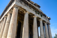 GRECJA ATENY, MARZEC, - 29, 2017: Świątynia Hephaestus Obrazy Stock
