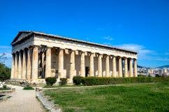 GRECJA ATENY, MARZEC, - 29, 2017: Świątynia Hephaestus Zdjęcie Stock