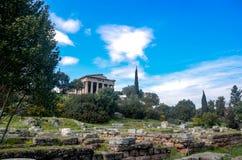 GRECJA ATENY, MARZEC, - 29, 2017: Świątynia Hephaestus Obrazy Royalty Free