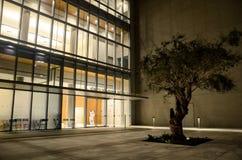 GRECJA ATENY, MARZEC, - 25, 2017: Stavros Niarchos Fundacyjny Kulturalny centrum Zdjęcia Stock