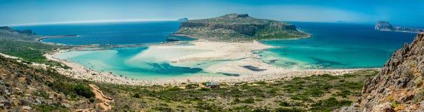 Grecja, Crete Balos plaża Panorama od wzgórze wysokiego punktu Obrazy Royalty Free