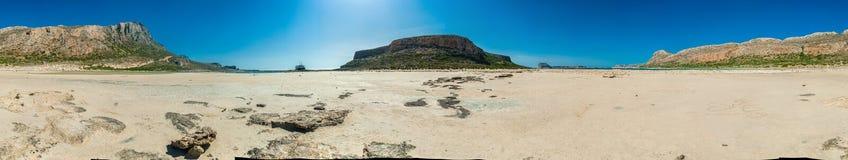 Grecja, Crete Balos plaży panorama od dna Zdjęcia Royalty Free