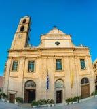 Grecja, Crete, kościół w Chania Xania, opróżnia krajobraz Fotografia Royalty Free