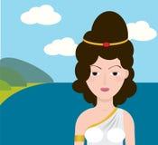 Grecja dziewczyna Obrazy Stock