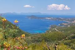 Grecja, Epirus, panoramiczny widok Zdjęcie Royalty Free