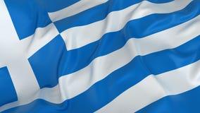 Grecja flaga Obraz Royalty Free