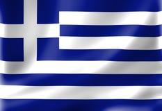 Grecja flaga Fotografia Stock