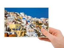 Grecja fotografia w ręce Fotografia Stock