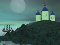 Grecja i góra ilustracja wektor