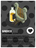 Grecja koloru isometric plakat ilustracji