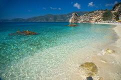 Grecja, Lefkada, Agiofili plaża - Obrazy Stock