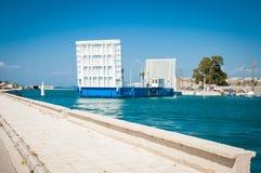 2016 Grecja Lefkada Poruszający most między wyspą i kontynentem Obraz Royalty Free