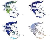 Grecja mapy Zdjęcie Stock