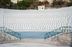 Grecja, nowożytny amphitheatre w jeden miasta Zdjęcia Royalty Free