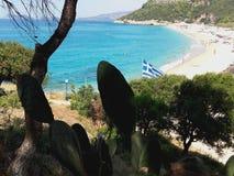 Grecja plaża Zdjęcie Stock