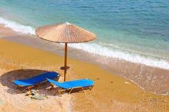 Grecja plaża Obrazy Stock