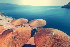 Grecja plaża Zdjęcia Stock