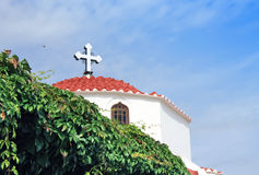 Grecja, Rhodes, Lindos - Greckokatolicki kościół Zdjęcia Stock