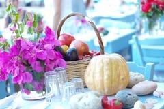 Grecja stołu set Fotografia Stock