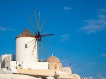 Grecja wiatraczki Zdjęcia Royalty Free
