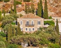 Grecja, widok historyczny budynek w hydry wyspie Obrazy Stock