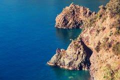 Grecja wybrzeże Obrazy Royalty Free