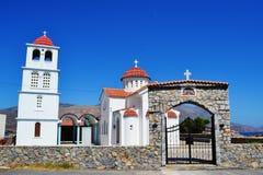 Grecja, wyspa Crete Biały kościół Obrazy Stock