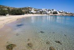 Grecja wyspa Donoussa Grodzka plaża na wiosna dniu obrazy stock