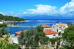 Grecja, wyspa widok na Ag Nicholas wyspa Obraz Royalty Free
