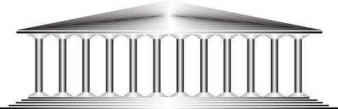 Grecka świątynia ilustracji