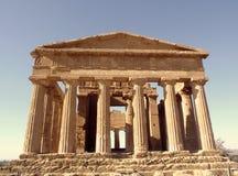 Grecka świątynia Obrazy Royalty Free