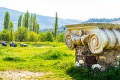 Grecka świątynia Artemis blisko Ephesus i Sardis Zdjęcia Stock