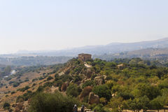 Grecka świątynia Concordia w Agrigento, Sicily -, Włochy Zdjęcia Royalty Free