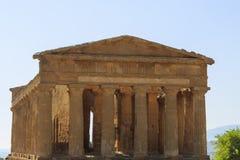 Grecka świątynia Concordia w Agrigento, Sicily -, Włochy Zdjęcia Stock