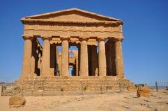 Grecka świątynia od Agrigento. Obrazy Royalty Free